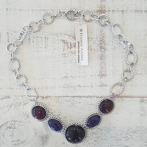 NWT Etienne Aigner semi-precious necklace
